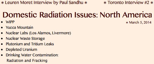 20140305 HEADLINE Domestic Radiation Issues in North America, LKM & Paul Sandhu