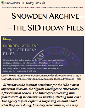 20160516,2 Snowden Archive ——The SidToday Files