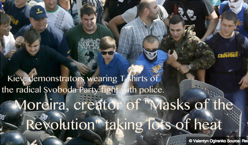 "Add 2. 20160202 Moreira, creator of ""Masks of the Revolution"" taking lots of heat"