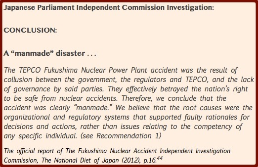 FIG 15.5.1 - Japanese Parliment Independent Fukushima Investigation's Conclusion