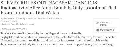 Fig. 2 Nagasaki Headlines 1945
