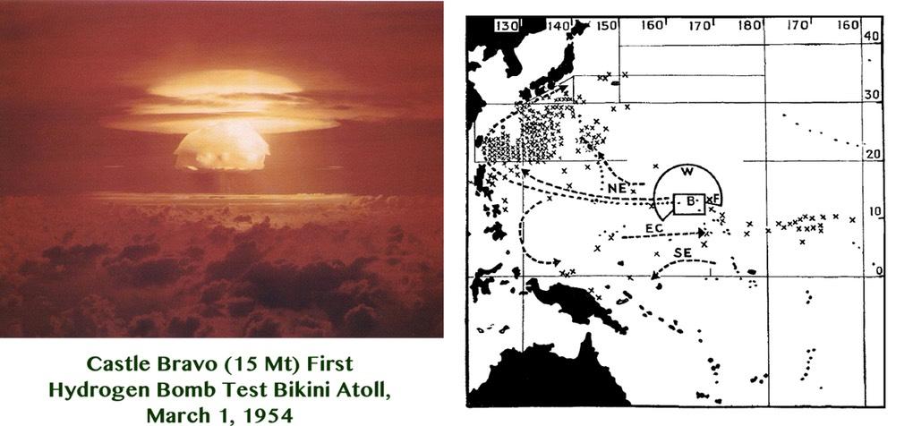 Fig.19(a) Castle Bravo Blast - 19(b) Castle_Bravo_fish_contamination_map