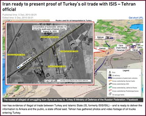Hotspot 1. Iran ready to present proof of Turkey's oil trade with ISIS