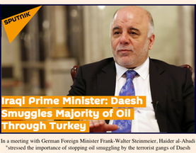 Hotspot 2- Iraqi Prime Minister- Daesh Smuggles Majority of Oil Through Turkey