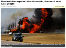 Insrt 1. Alberta wildfires expected to burn for months, threaten oil sands mines (VIDEOS)