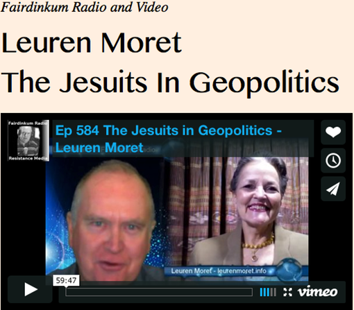 Leuren Moret, The Jesuits In Geopolitics