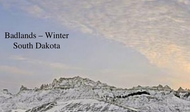 Pic 1. Badlands – Winter – South Dakota _timthumb.php