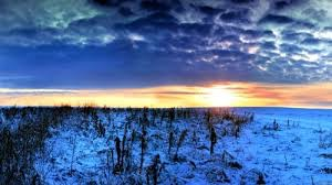 Pic 1. Winter-plain-clouds-sunset-landscape-images