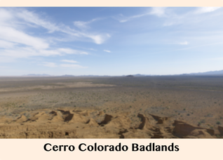 Pic 1.2.3 Cerro Colorado Badlands