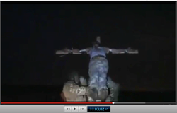 Pic 13. 20150425 BATALLION AZOV Crucifixtion w. Cross Burning !!! 18+ !!!.screenflow