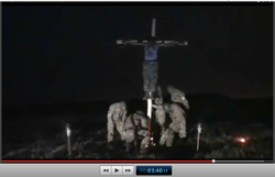 Pic 18. 20150425 BATALLION AZOV Crucifixtion w. Cross Burning !!! 18+ !!!.screenflow