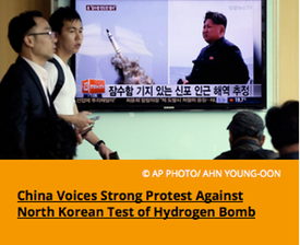 Pic 2. China Voices Strong Protest Against North Korean Test of Hydrogen Bomb