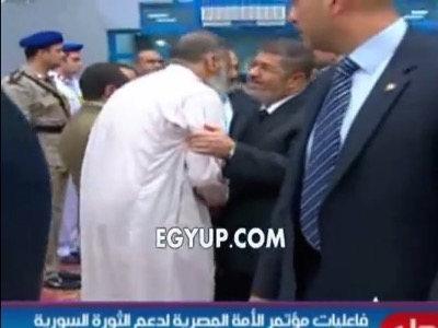 Pic 2. Mohamed Mursi with Assem Abd Elmaged the leader of Gamaa islamiya who assassinated police and military individuals in the 90's