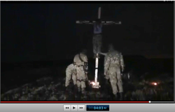 Pic 21. 20150425 BATALLION AZOV Crucifixtion w. Cross Burning !!! 18+ !!!.screenflow