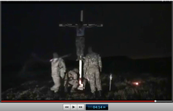 Pic 23.2. 20150425 BATALLION AZOV Crucifixtion w. Cross Burning !!! 18+ !!!.screenflow