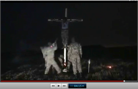 Pic 23.3. 20150425 BATALLION AZOV Crucifixtion w. Cross Burning !!! 18+ !!!.screenflow