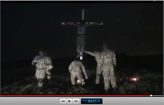 Pic 24. 20150425 BATALLION AZOV Crucifixtion w. Cross Burning !!! 18+ !!!.screenflow