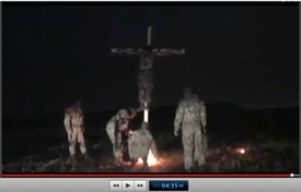 Pic 25. 20150425 BATALLION AZOV Crucifixtion w. Cross Burning !!! 18+ !!!.screenflow