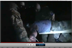 Pic 9.9.6. 20150425 BATALLION AZOV Crucifixtion w. Cross Burning !!! 18+ !!!.screenflow