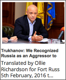 R1. 20160205 Trukhanov- We Recognized Russia as an Aggressor to Make Our Defenders Feel Confident