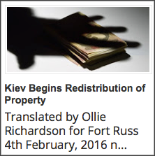 R2. 20160204 Kiev Begins Redistribution of Property