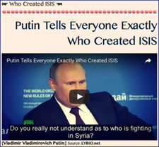 TITLE- ☛ Who Created ISIS ☚