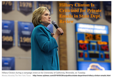 TITLE- 20160525 Hillary Clinton Is Criticized for Private Emails in State Dept. Review (w link)