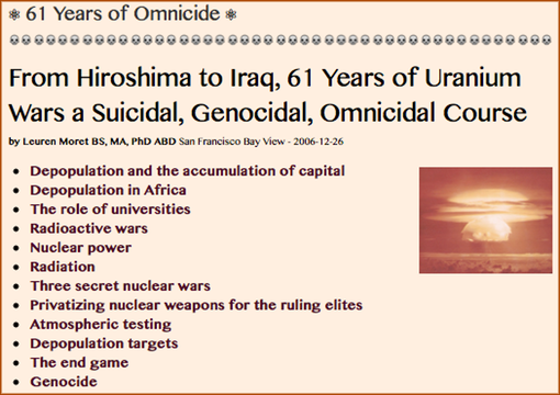 TITLE- 61 Years of Omnicide