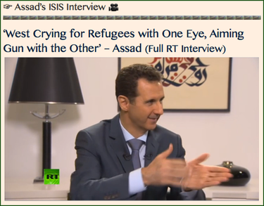 TITLE- Assad's ISIS Interview
