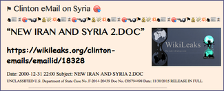 TITLE- Clinton eMail on Syria