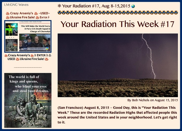 TITLE- Your Radiation #17, Aug 8-15,2015