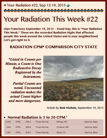 TITLE- Your Radiation #22, Sept 12-19, 2015