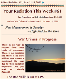 TITLE- Your Radiation, June 11-18, 2016