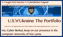 TITLE☞ Caught Red Handed ☜ CyberBerkut Original